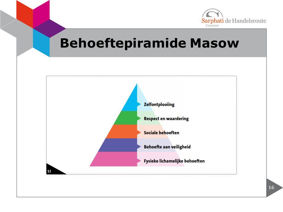 Behoeftepiramide Masow