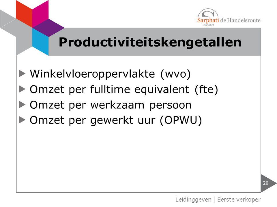 Productiviteitskengetallen