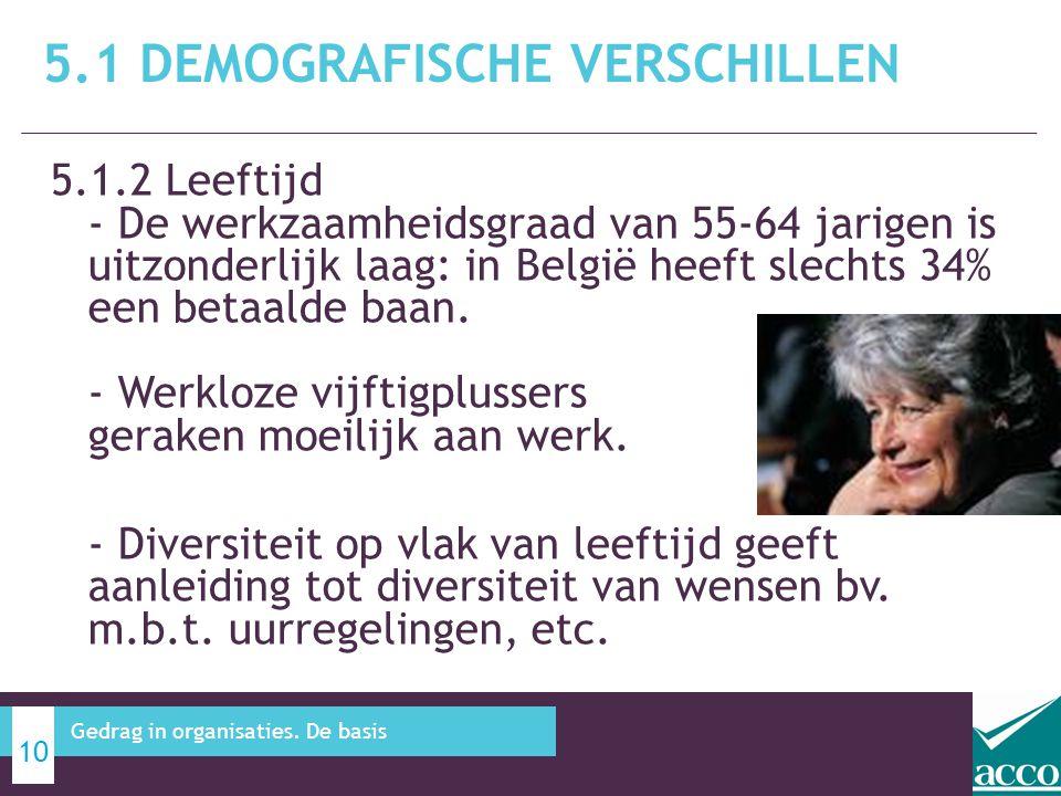 5.1 Demografische verschillen