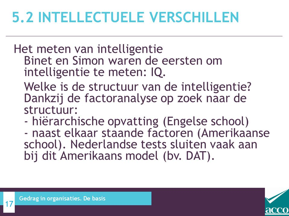 5.2 Intellectuele verschillen