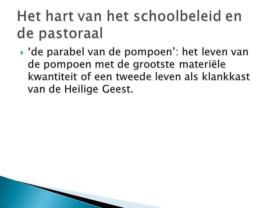 Het hart van het schoolbeleid en de pastoraal