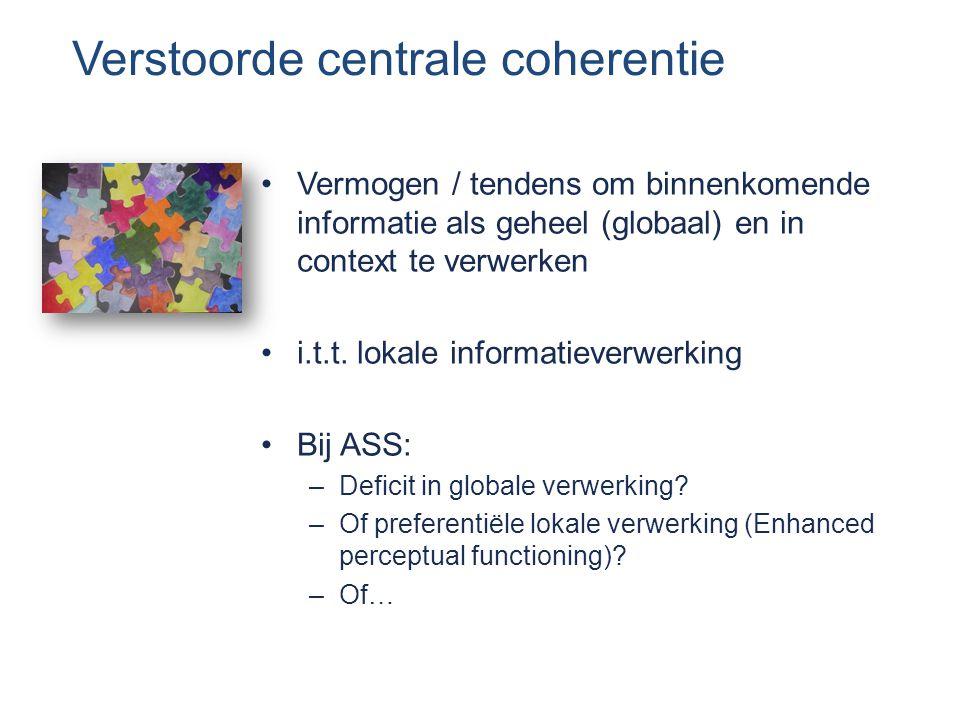 Verstoorde centrale coherentie