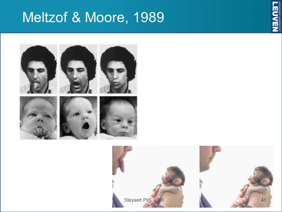 Meltzof & Moore, 1989 Steyaert PHL 2010