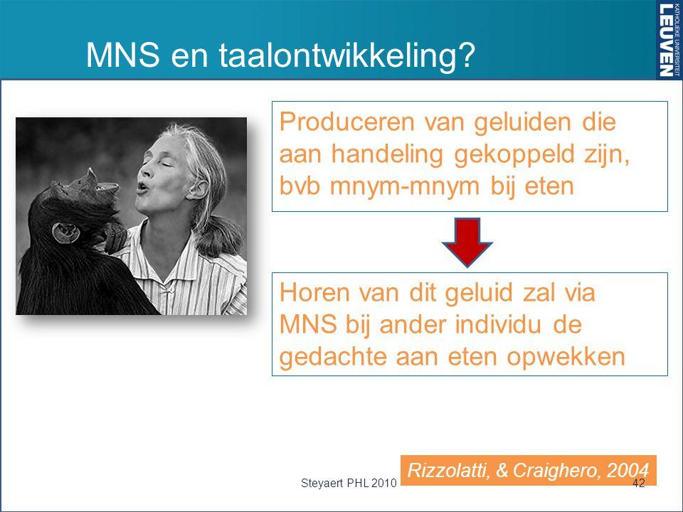 MNS en taalontwikkeling