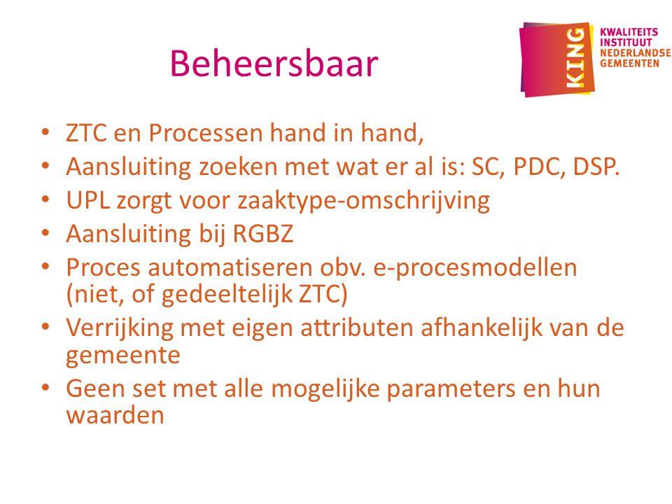 Beheersbaar ZTC en Processen hand in hand,