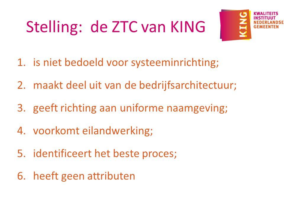 Stelling: de ZTC van KING