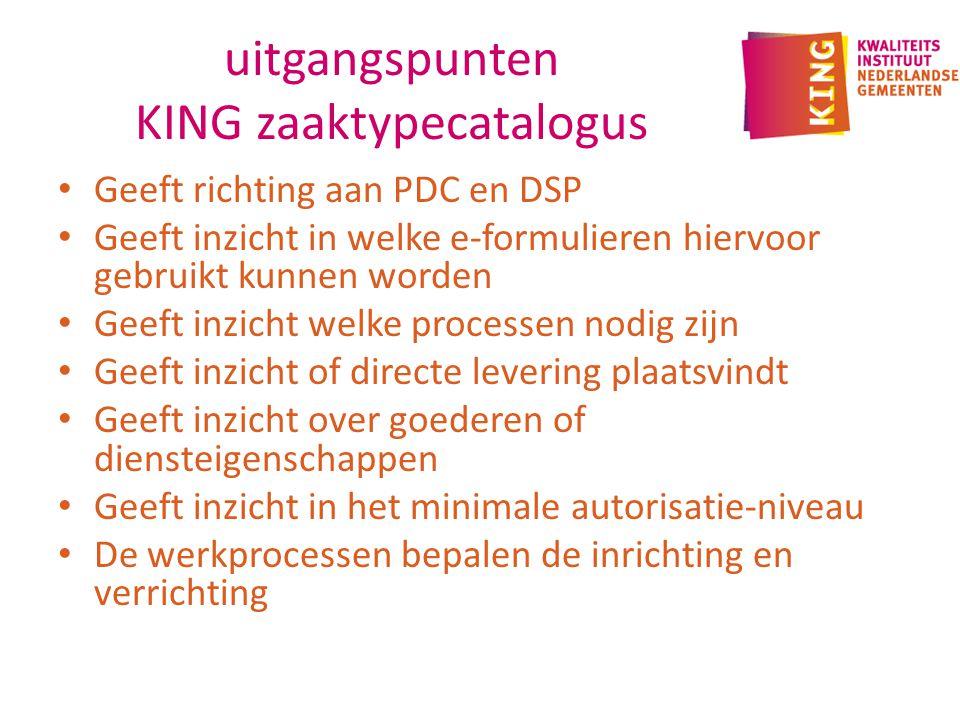 uitgangspunten KING zaaktypecatalogus