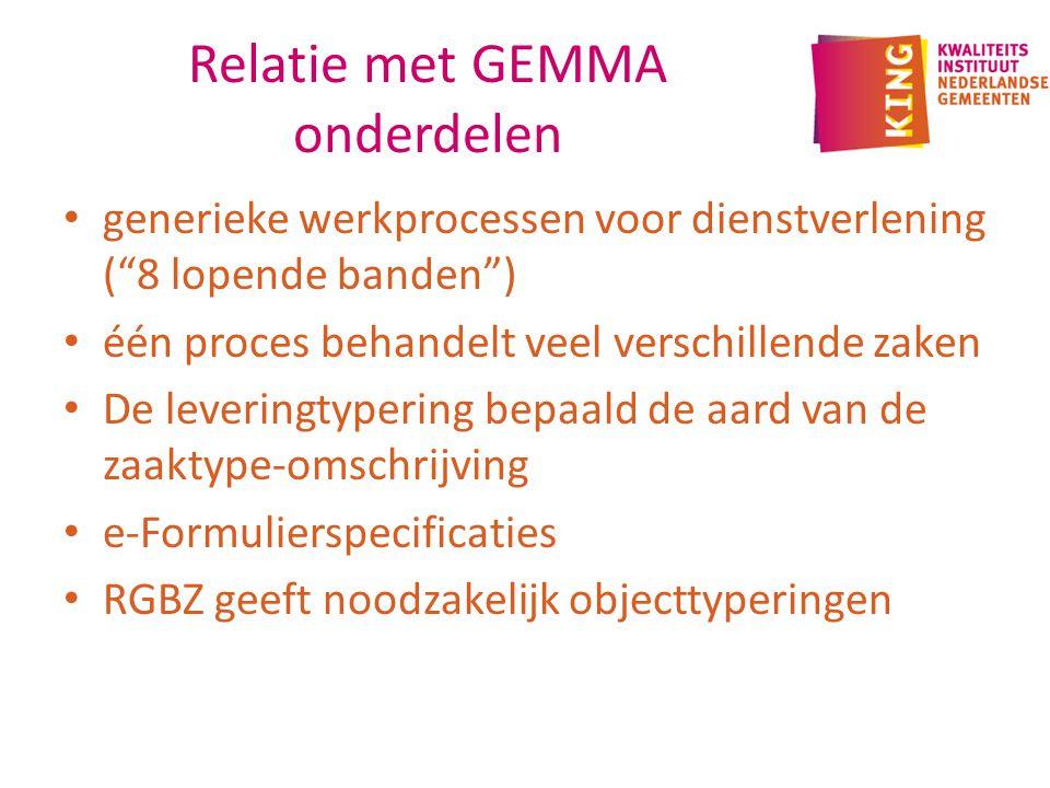 Relatie met GEMMA onderdelen
