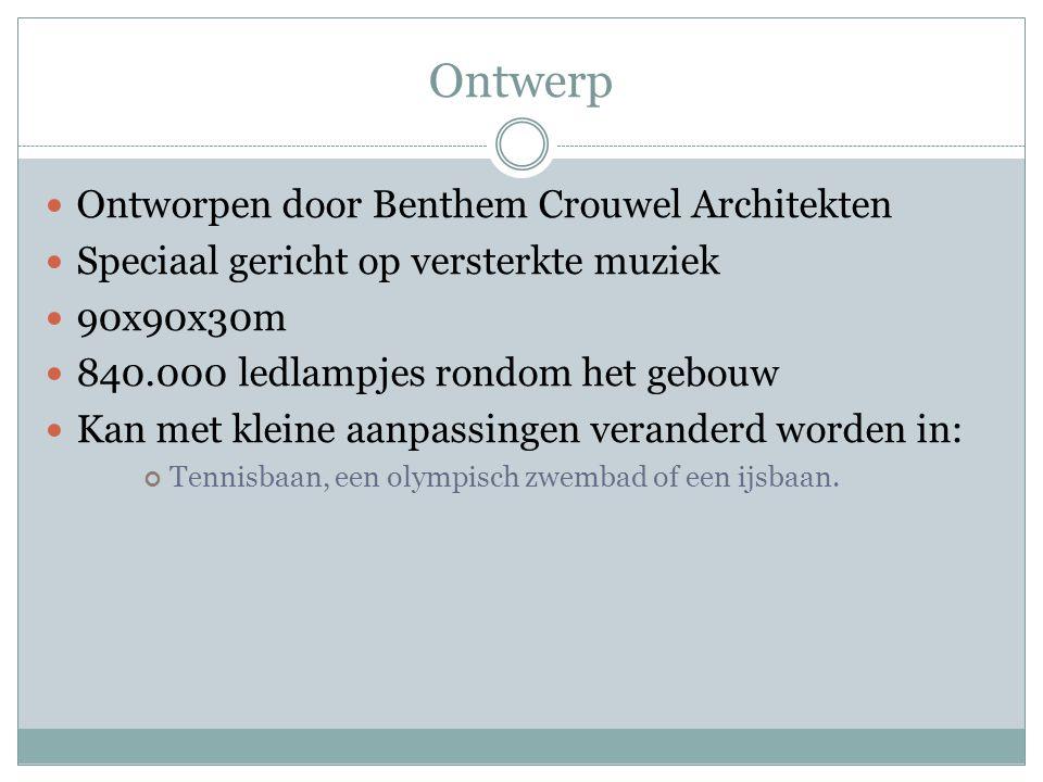 Ontwerp Ontworpen door Benthem Crouwel Architekten
