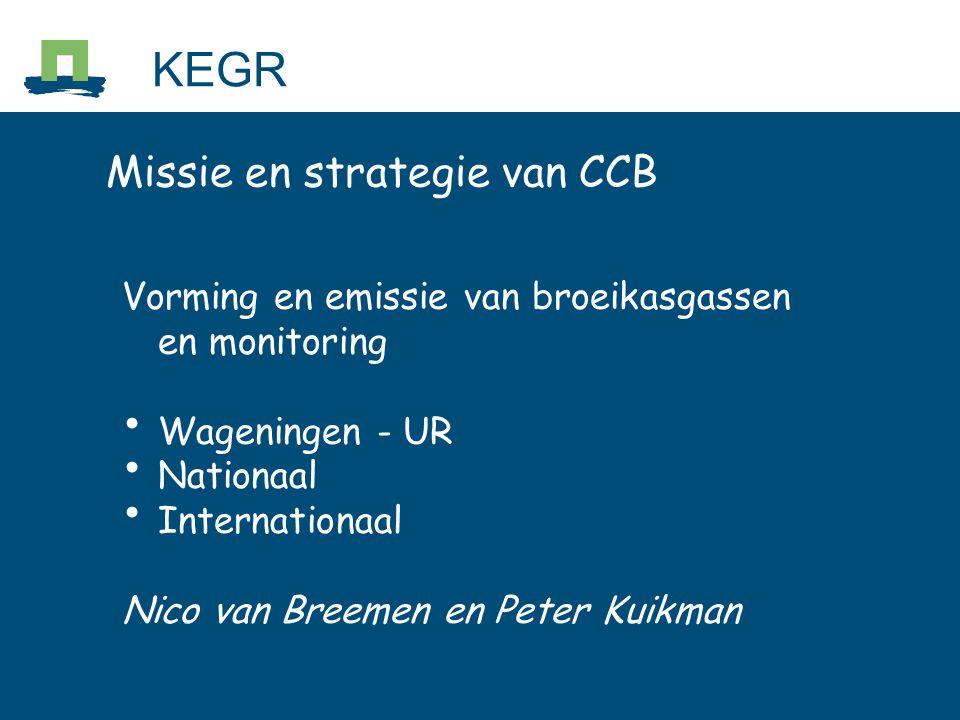 KEGR Missie en strategie van CCB