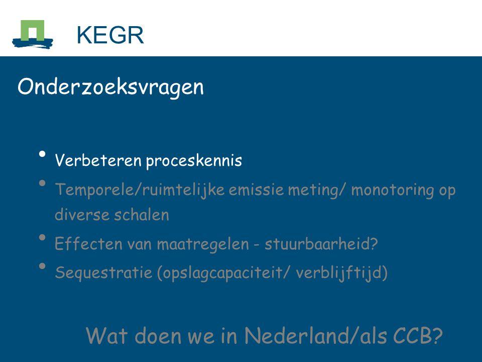 KEGR Onderzoeksvragen Verbeteren proceskennis