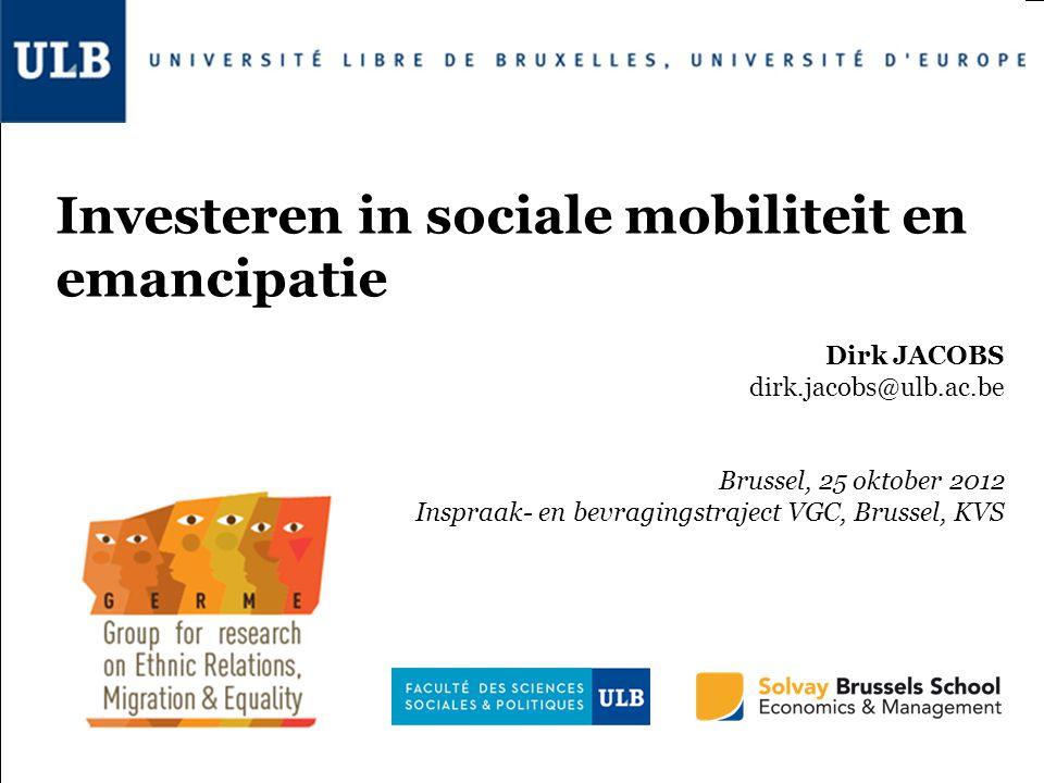 Investeren in sociale mobiliteit en emancipatie