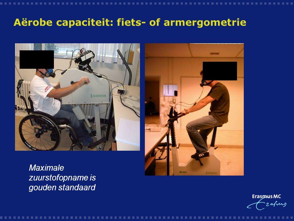 Aërobe capaciteit: fiets- of armergometrie