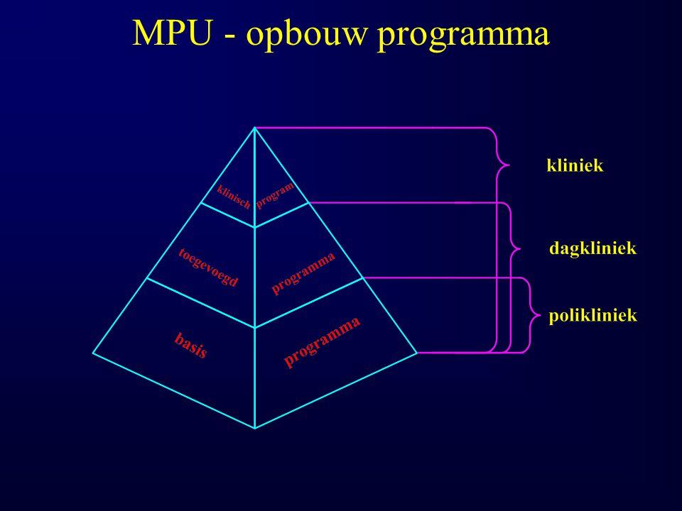 MPU - opbouw programma