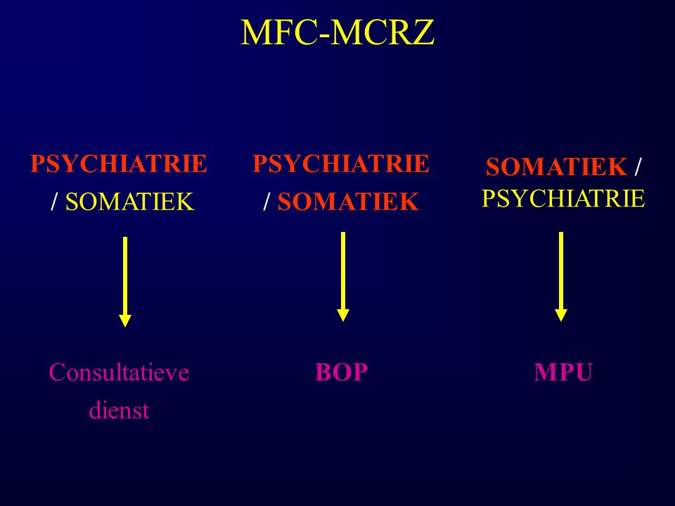 SOMATIEK / PSYCHIATRIE