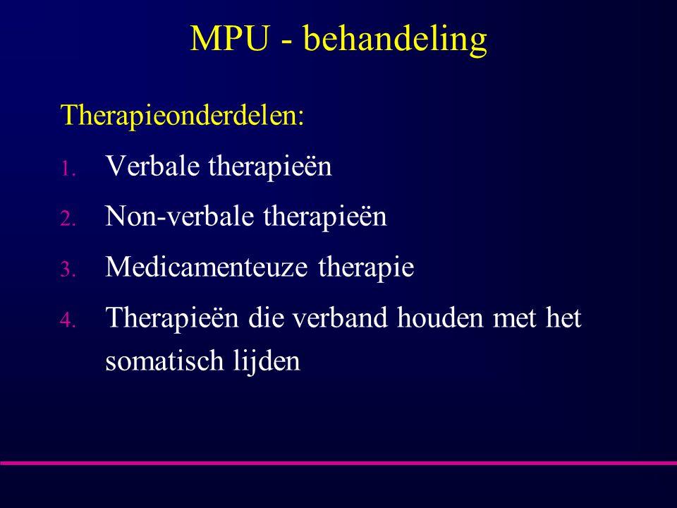 MPU - behandeling Therapieonderdelen: Verbale therapieën