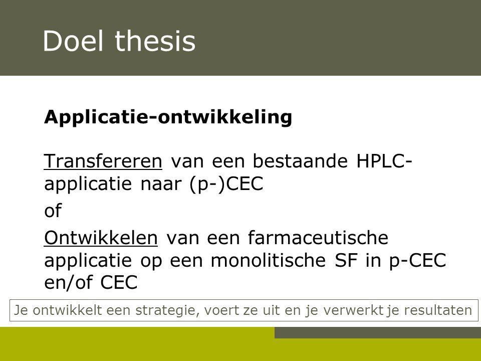 Doel thesis Applicatie-ontwikkeling