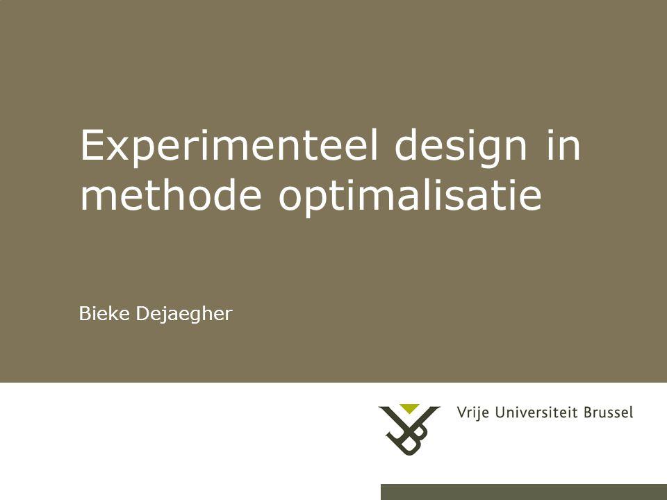 Experimenteel design in methode optimalisatie