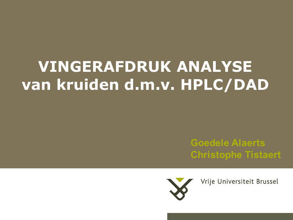 VINGERAFDRUK ANALYSE van kruiden d.m.v. HPLC/DAD