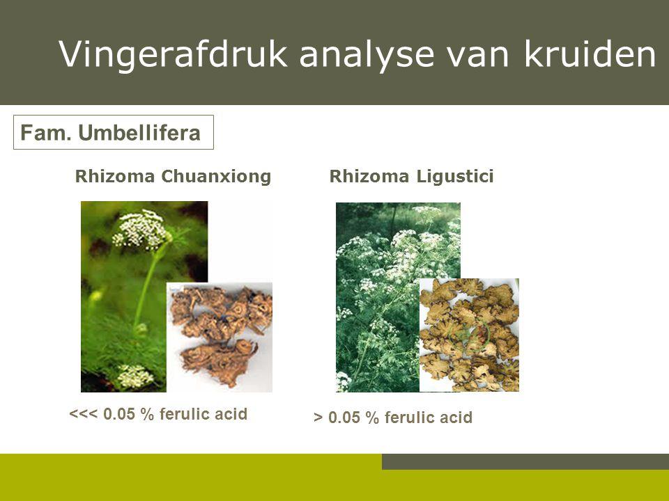 Vingerafdruk analyse van kruiden
