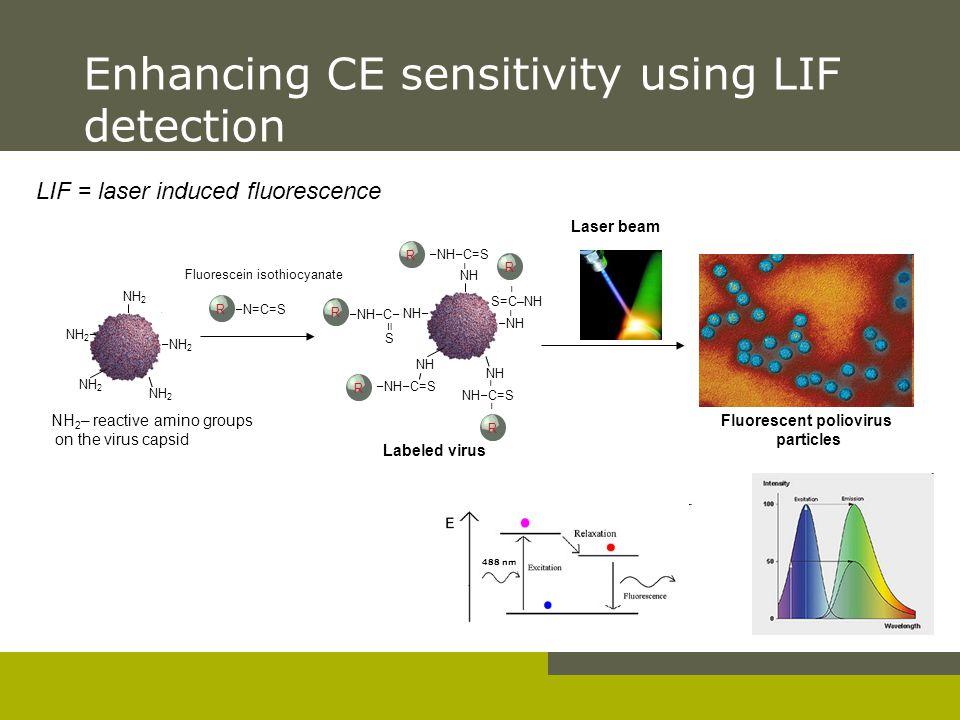 Enhancing CE sensitivity using LIF detection