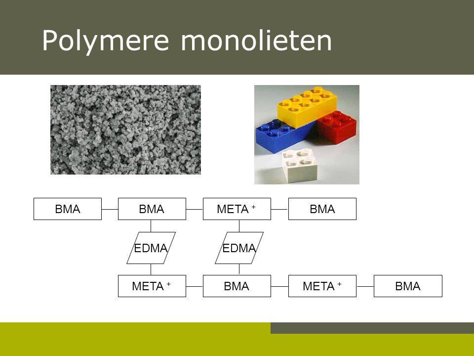Polymere monolieten BMA BMA META + BMA EDMA EDMA META + BMA META + BMA