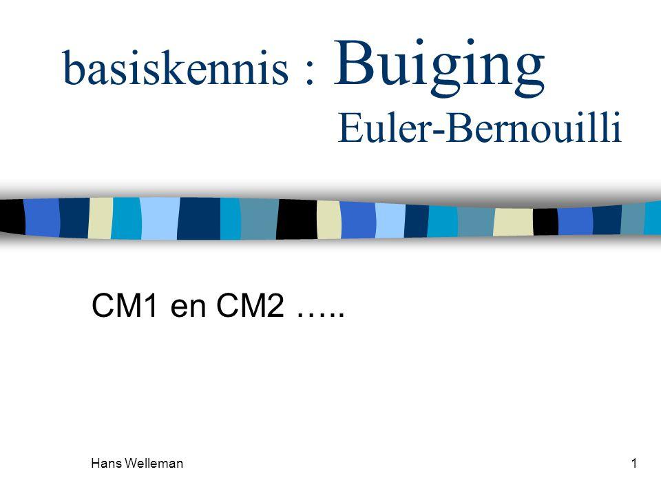basiskennis : Buiging Euler-Bernouilli