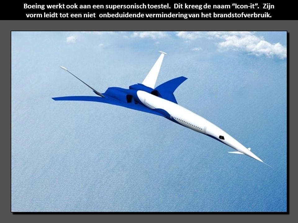 Boeing werkt ook aan een supersonisch toestel