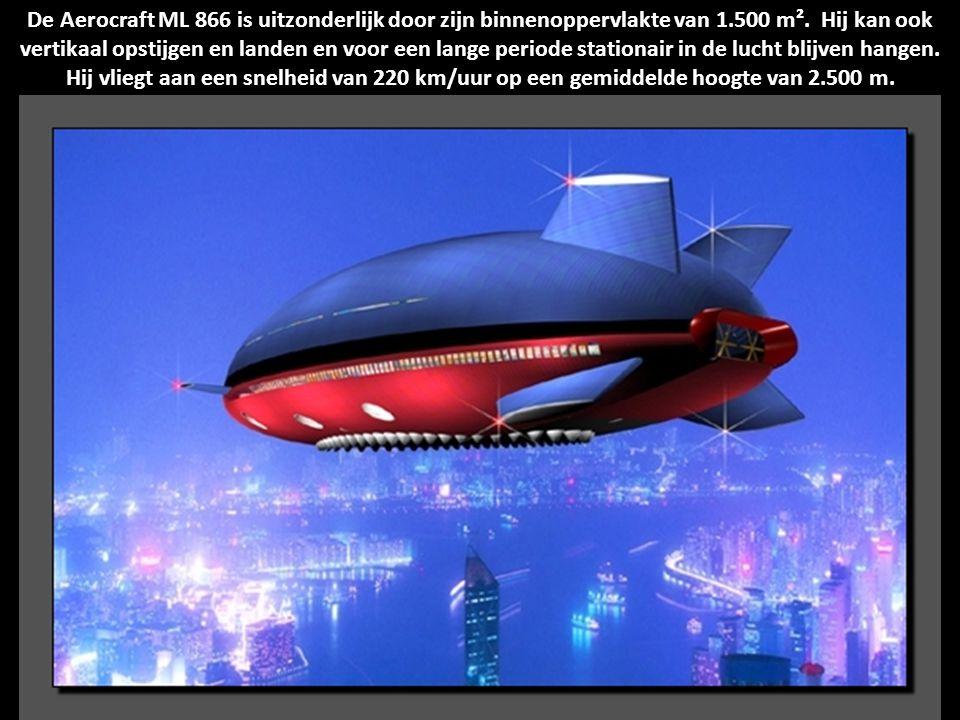 De Aerocraft ML 866 is uitzonderlijk door zijn binnenoppervlakte van 1