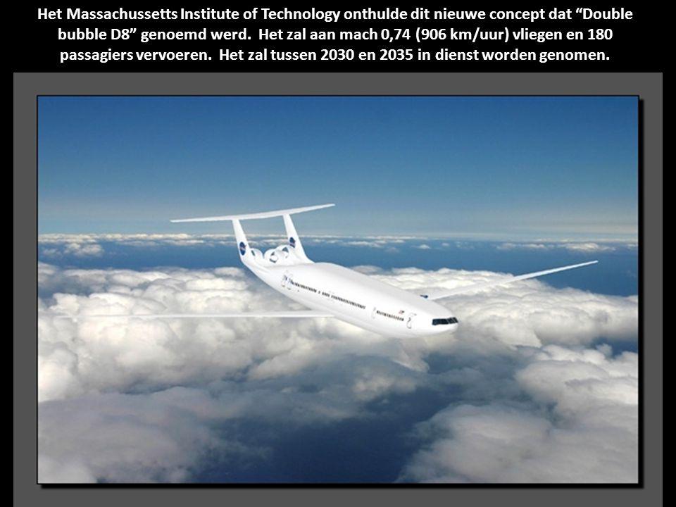 Het Massachussetts Institute of Technology onthulde dit nieuwe concept dat Double bubble D8 genoemd werd.