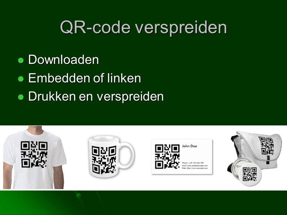 QR-code verspreiden Downloaden Embedden of linken