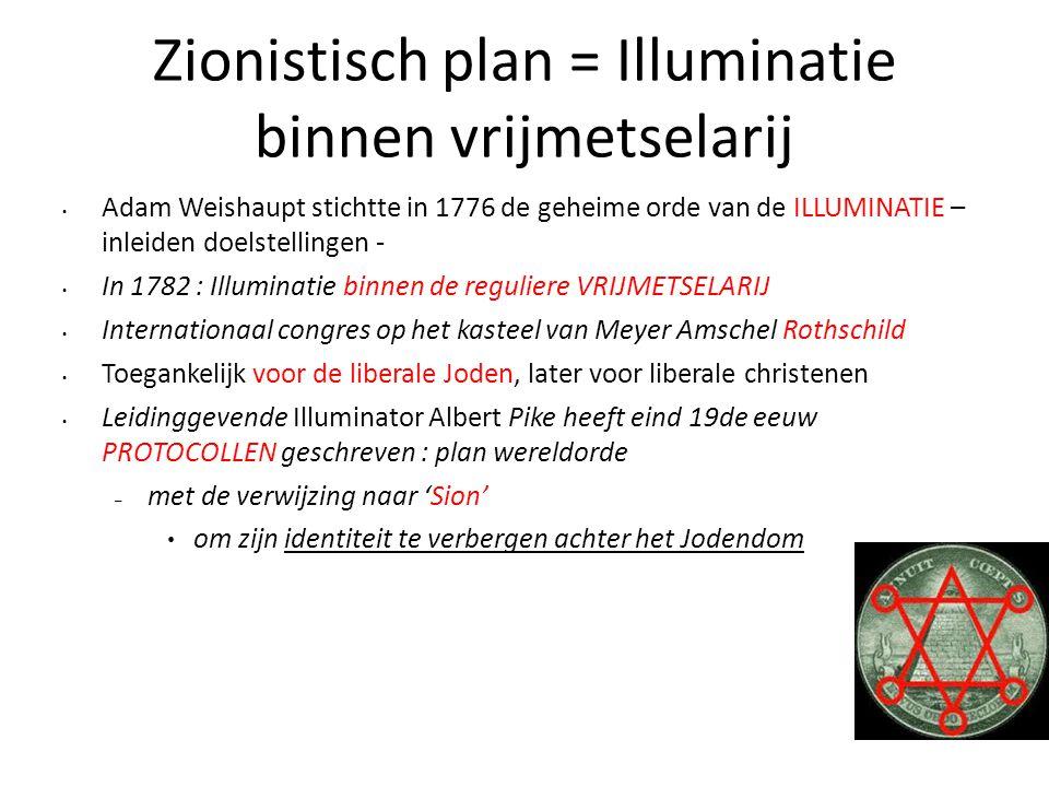 Zionistisch plan = Illuminatie binnen vrijmetselarij