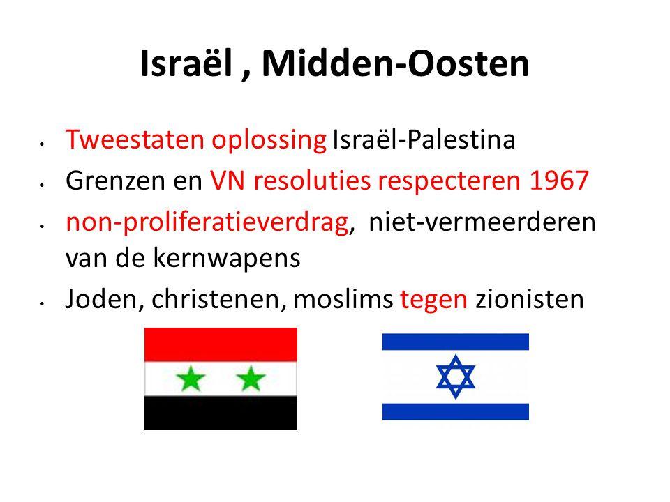 Israël , Midden-Oosten Tweestaten oplossing Israël-Palestina