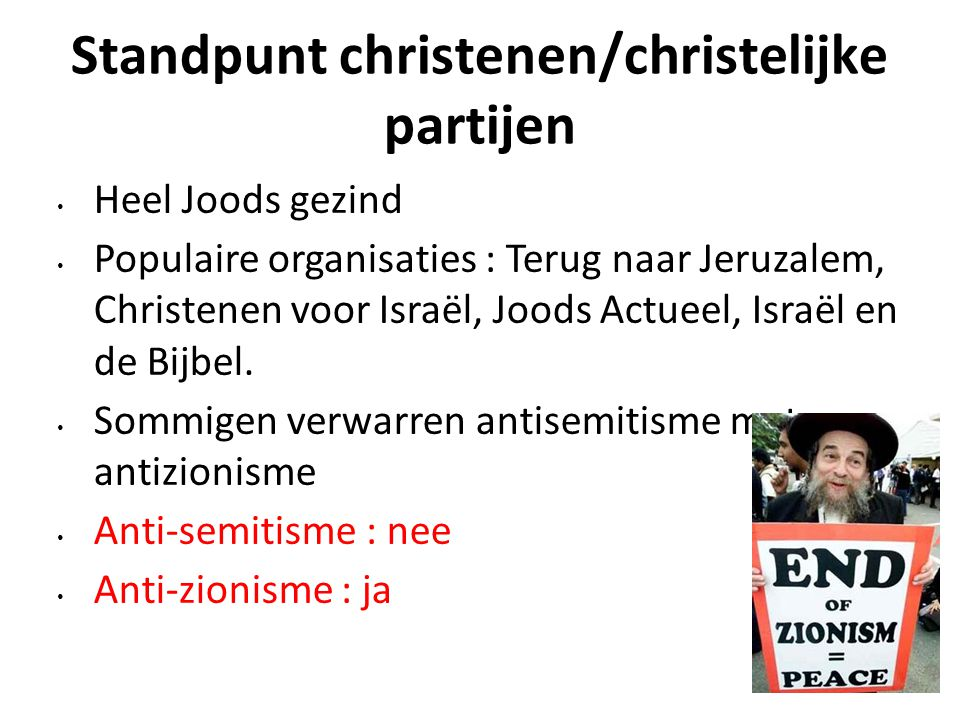 Standpunt christenen/christelijke partijen