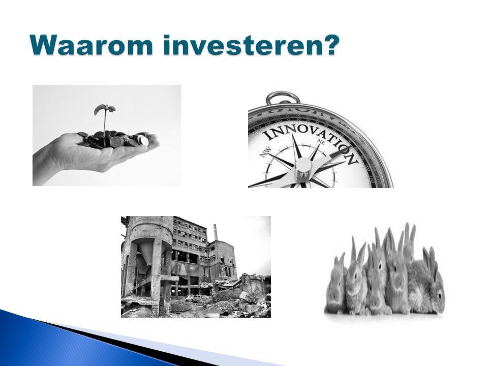 Waarom investeren