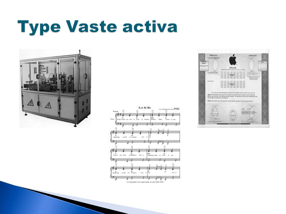 Type Vaste activa