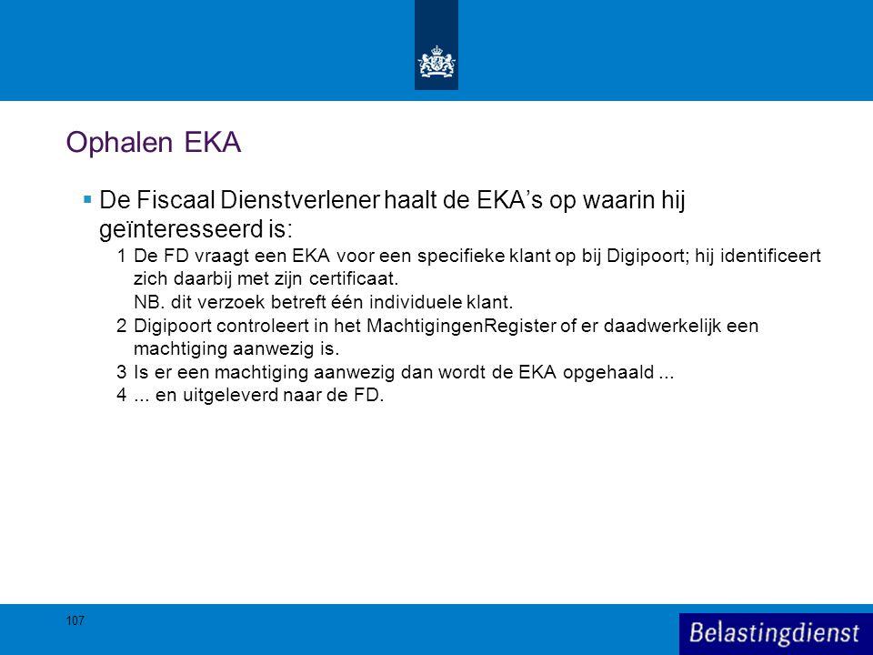 Ophalen EKA De Fiscaal Dienstverlener haalt de EKA's op waarin hij geïnteresseerd is: