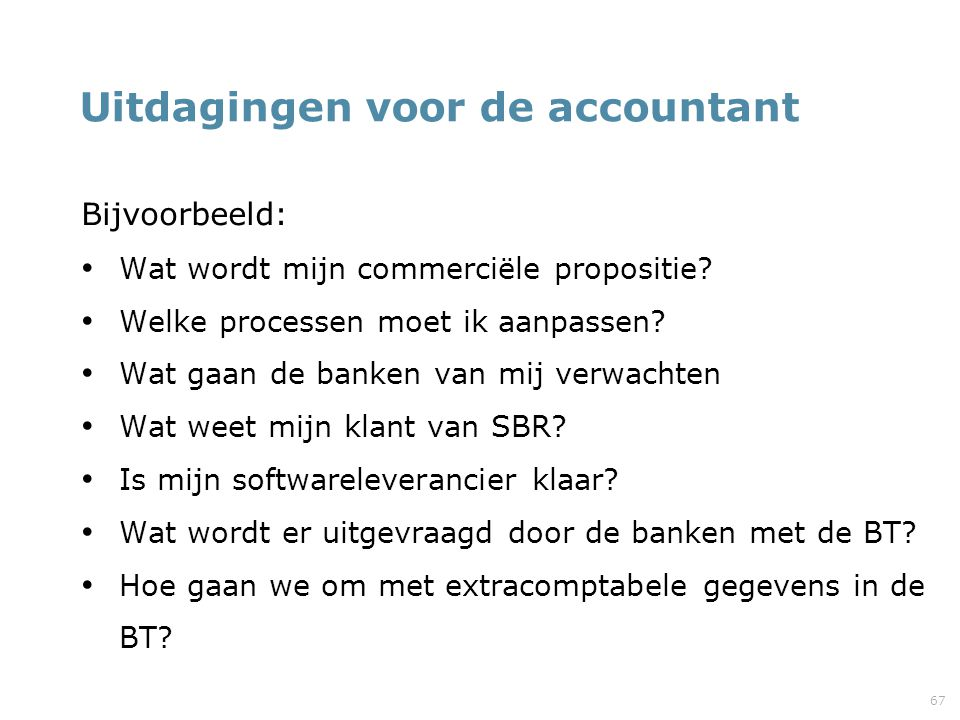 Uitdagingen voor de accountant