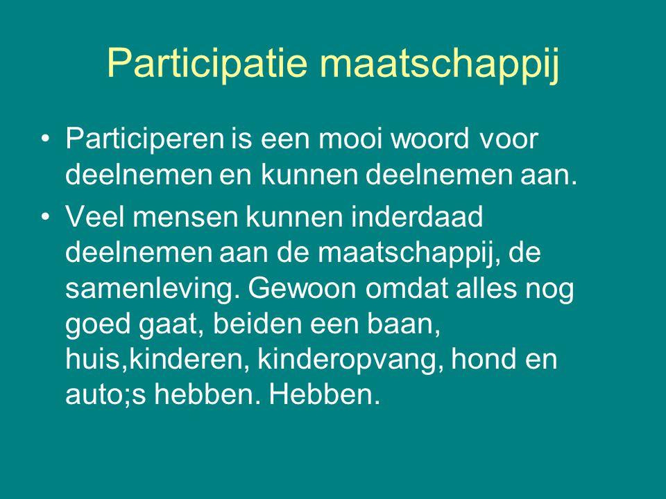 Participatie maatschappij