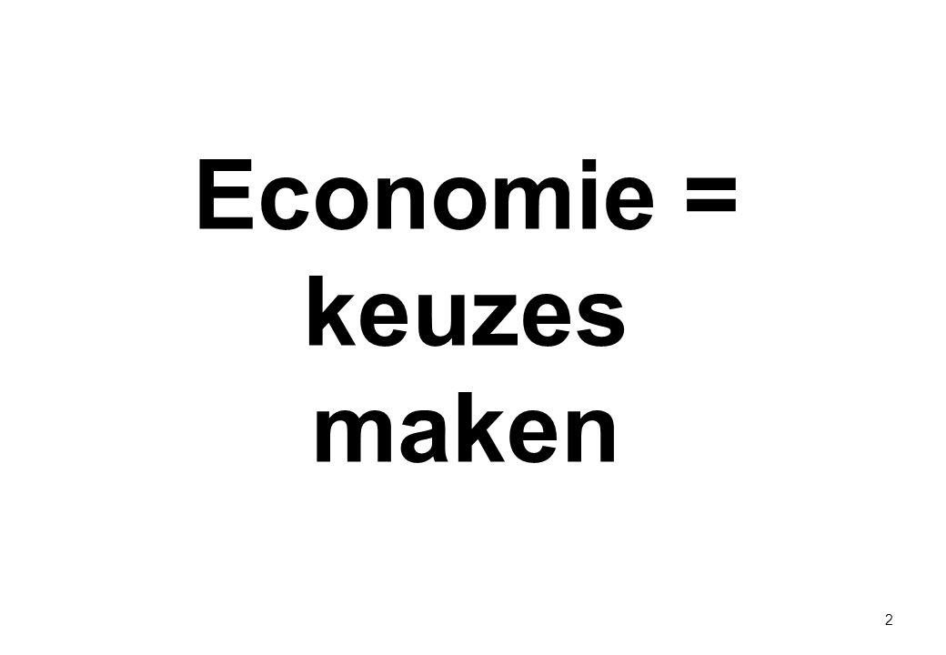 Economie = keuzes maken