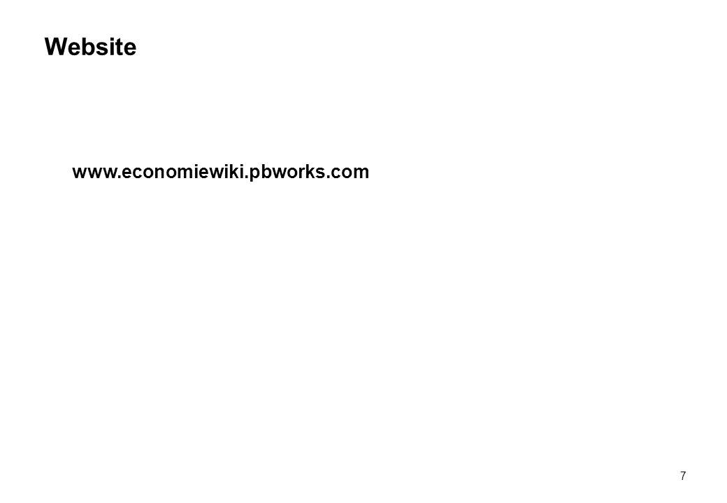 Website www.economiewiki.pbworks.com