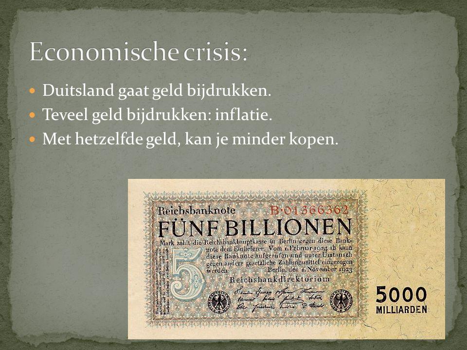 Economische crisis: Duitsland gaat geld bijdrukken.
