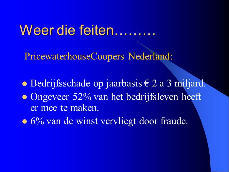 Weer die feiten……… PricewaterhouseCoopers Nederland: