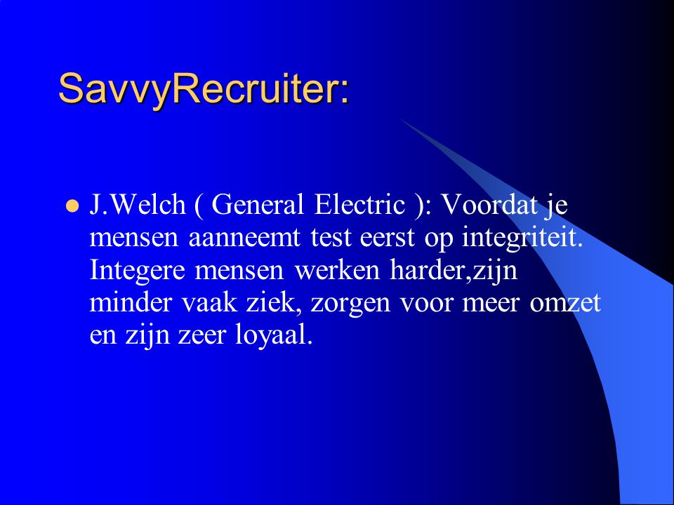SavvyRecruiter: