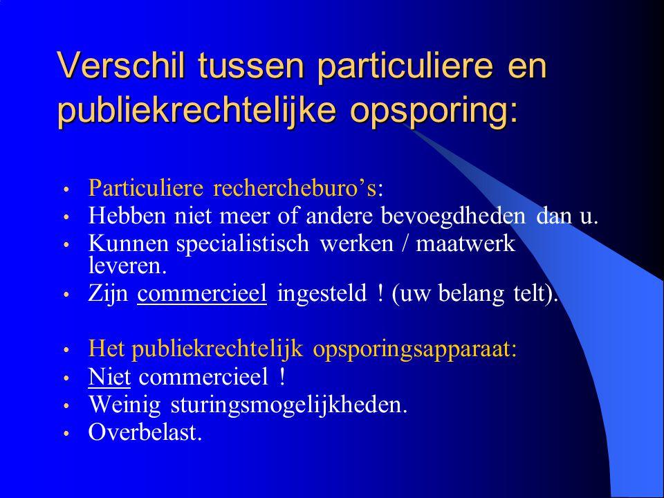 Verschil tussen particuliere en publiekrechtelijke opsporing: