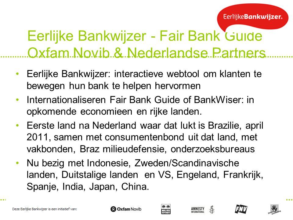 Eerlijke Bankwijzer - Fair Bank Guide Oxfam Novib & Nederlandse Partners
