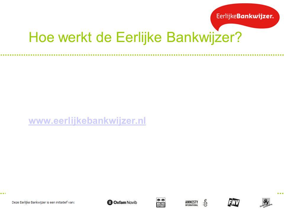 Hoe werkt de Eerlijke Bankwijzer