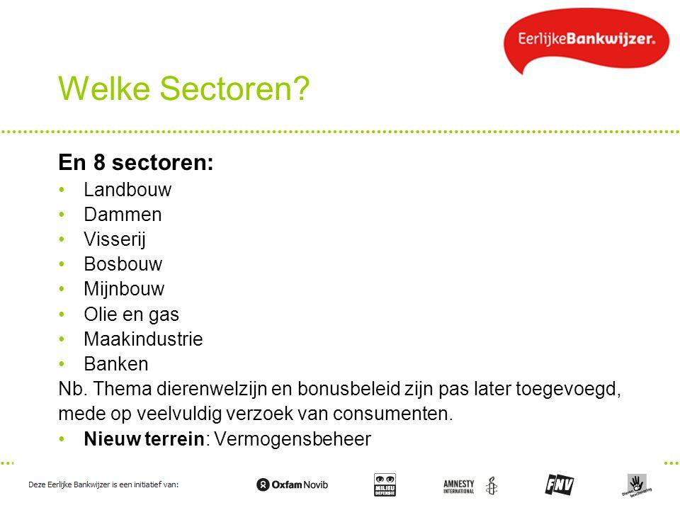 Welke Sectoren En 8 sectoren: Landbouw Dammen Visserij Bosbouw