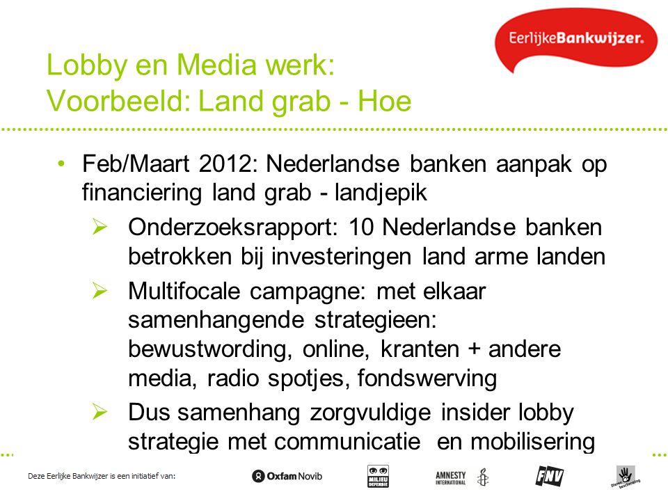 Lobby en Media werk: Voorbeeld: Land grab - Hoe