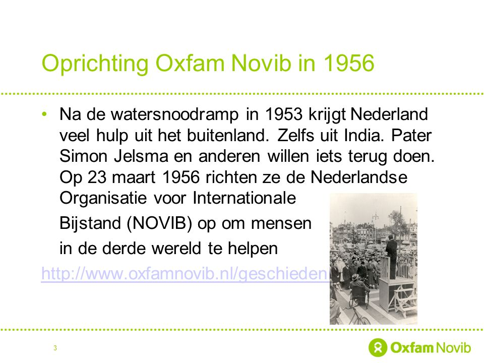 Oprichting Oxfam Novib in 1956